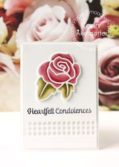 Welcome to a new post with Paper Smooche's latest release! For today's post I have played with the Beautiful Sympathy sampl. Heartfelt Condolences, Peppermint Patties, Paper Smooches, Die Cut Cards, Sympathy Cards, Homemade Cards, Stampin Up, Card Making, Paper Crafts