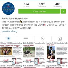 Have you checked out all of the wonderful organizations that the #PNHSFoundation donates to? Visit @pa_nationalhs and follow the text to donate instructions to help them continue to help all of these wonderful therapeutic riding and rescue organizations!