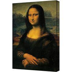 ArtWall Leonardo Da Vinci 'Mona Lisa' 12 in x 18 in Gallery Wrapped