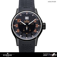 Reloj #Edox para caballeros WRC Big Date Black Dial 64008 37N NOR.
