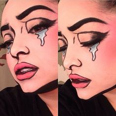 Supercool comic book makeup by @pritylipstix using #Sugarpill. Awesome!!