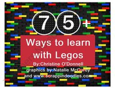 75+ Ways To Learn With Legos from Crazy in Pre K on TeachersNotebook.com (145 pages)