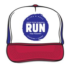 Run this Country Miles & Pace Trucker Hat
