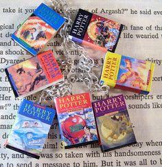 Harry Potter Miniature Classic Novels Book Charm by JanDaJewelry