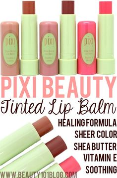 """Looking for the perfect lip product for the """"no makeup makeup"""" look? The Pixi Beauty tinted lip balm has you covered! They're so hydrating!"""