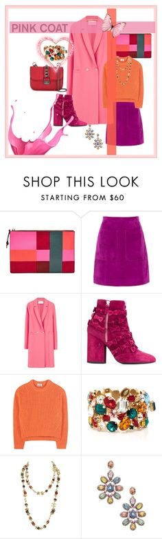 """Hey, Girl! Pink Coat Contest"" by aharcaki ❤ liked on Polyvore featuring FOSSIL, L.K.Bennett, Harris Wharf London, Laurence Dacade, Acne Studios, Dolce&Gabbana, Chanel, Arthur Marder Fine Jewelry and Valentino"