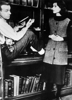 """Audrey Hepburn & Fred Astaire in """"Funny Face"""" Audrey Hepburn Funny Face, Aubrey Hepburn, British Actresses, Actors & Actresses, Fred Astaire Dance Studio, Old Movie Stars, Dapper Day, Ballroom Dancing, Amor"""
