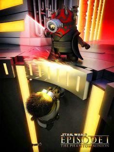 Darth Minion vs Minion Wan Kenobi
