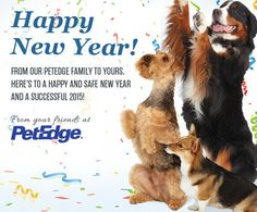 Airedales in Advertising - Happy New Year From Your Friends at PetEdge.