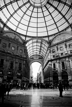 Stunning architecture at the Galleria Vittorio Emanuele II in Milan, Italy. Photo by @Tracey Clark.