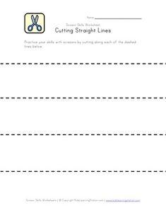 cutting lines worksheet