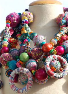 textile necklaces | Flickr - Photo Sharing!