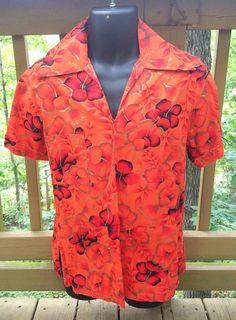 Orange Hawaiian Tropical Shirt Men Unisex | Etsy Pale Fire, Social Injustice, Vintage Avon, Vintage Shirts, Shirt Men, Hawaiian, Men Casual, Tropical, Unisex