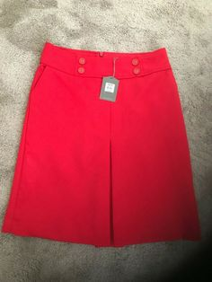 Bnwt Oasis Girls / Women's Red Skirt Size 8 (New) #Oasis #Straight #Casual
