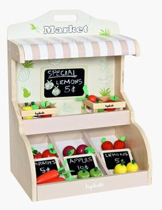 Toy Fruit & Vegetable Market Stand