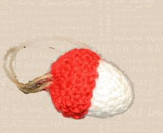 2012 Knit Acorn Caribou Coffee Ornament