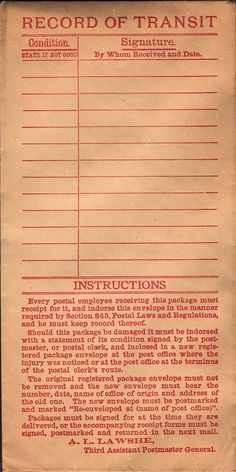 This is a fun piece of old Ephemera, an old envelope with fabulous red lettering!