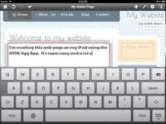 Creating your first web page using Web Page Creator for iOS - HTML Egg Web Page Creator, The Creator, Egg App, First Web Page, Responsive Web Design, Iphone App, Html, Create Yourself, Ios