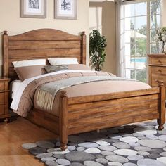 Courtdale Panel Bed #birchlane