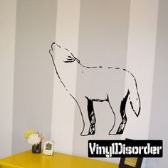 Wolf Wall Decal - Vinyl Decal - Car Decal - DC011