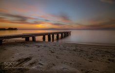 pier II by periklislaftsis  sky sea sunset greece clouds seascape long exposure…