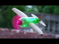How to Make a Flying Airplane using Plastic Bottle and Cardboard - YouTube