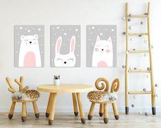 TRYPTYK DO POKOJU DZIECKA A3 plakaty 30x40 - black-dot-studio - Plakaty dla dzieci