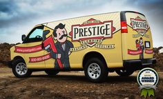 Award winning vehicle wrap and branding design for a plumbing, heating and air conditioning company in Illinois.