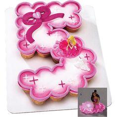 Barbi Cupcake cake idea