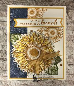 Small Sunflower, Sunflower Cards, Geek Cross Stitch, Cross Stitch Bookmarks, Heart Envelope, Hama Beads Minecraft, Perler Beads, Stampin Up Catalog, Stampin Up Cards