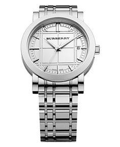 Burberry Watch, Men's Swiss Stainless Steel Bracelet 36mm BU1350