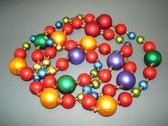 Gablonzer Christbaumschmuck / Weihnachtsbaumschmuck aus Hohlglasperlen