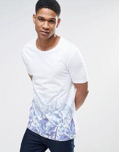 ASOS T-shirt with Floral Fade Hem Print