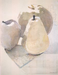 Pears and Apples  -   1974   -    Joe Brainard  -   The Metropolitan Museum of Art, New York   -   http://www.metmuseum.org/Collections/search-the-collections/486944?utm_source=Pinterest&utm_medium=pin&utm_campaign=foodboard