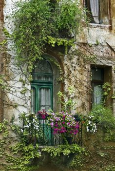 a balcony from a fairy tale; maybe the one that was climbed by the prince in Sleeping beauty