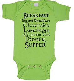 Second Breakfast Baby Rabbit Skins Ringspun Creeper,Tolkien Nerdy baby,Nerd Girl Tees, Geek Chic Shirt Gifts Typography, graphic tee