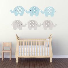 Baby Boys Decals - Boys Room Decals - Baby Room Stickers - Baby Room Decals - Nursery Deco - Nursery Decor Safari Theme Decor Elephant Decal