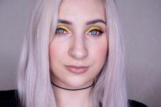 макияж глаз с желтыми тенями