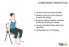 chair raised hand pose for office