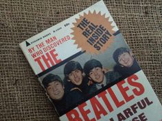 The Beatles, great vintage paperback book by Brian Epstein, A CELLARFUL OF NOISE, with pics, great collectable book, vintage book, Beatles by TwoSwansSwimming on Etsy