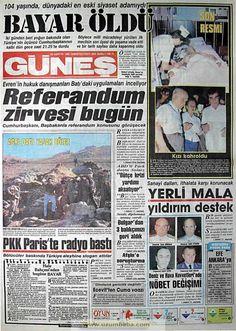 Güneş gazetesi 23 ağustos 1986