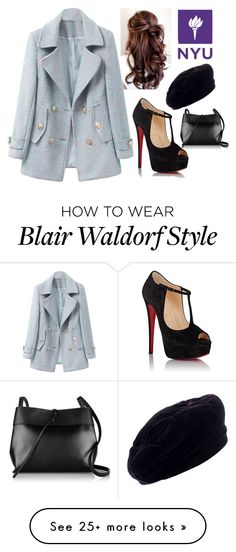 """""""Blair Waldorf"""" by stella-19 on Polyvore featuring Christian Louboutin, Yves Saint Laurent and Kara"""