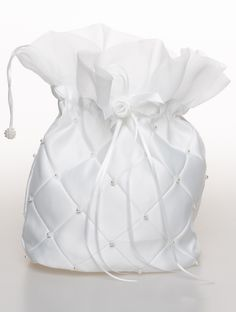 Dolly Bag   Quilted diamond pattern with intricate pearls & flower corsage fasten. www.rococlothing.co.uk