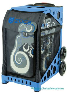 ZUCA Bag Ollie Insert /& Gray Frame w//Flashing Wheels