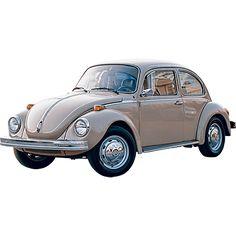 A pretty shiny VW Beetle sitting in the California sun.