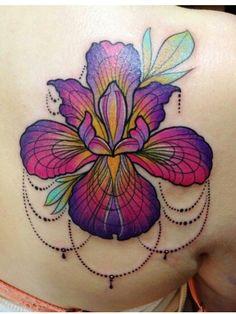 What does iris tattoo mean? We have iris tattoo ideas, designs, symbolism and we explain the meaning behind the tattoo. Tatoo 3d, Lotusblume Tattoo, Piercing Tattoo, City Tattoo, Tattoo Drawings, Great Tattoos, Beautiful Tattoos, Body Art Tattoos, New Tattoos