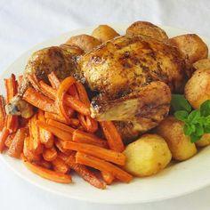 Maple Chipotle Glazed Roast Chicken
