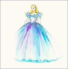 """Gorgeous—and giant! Cinderella's dress boasts countless layers of tulle on the petticoat and no less than four miles of thread. """"It's a clever construction,"""" Powell revealed to Us."""
