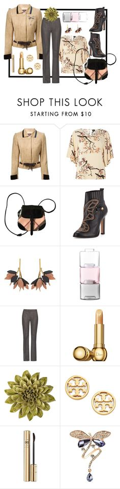"""Foliage"" by rita257 ❤ liked on Polyvore featuring John Galliano, Dorothy Perkins, Burberry, Sophia Webster, Marni, LSA International, MaxMara, Christian Dior, Home Decorators Collection and Tory Burch"