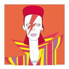 David Bowie illustration ⚡️uno de los iconos musicales y cinematograficos que marcaron nuestra infancia!  • • #caratelia #tucara #illustration #portrait #sorpresas #original #barcelona #regalosoriginales #bowie #glam #starman #heroes #labyrinth #movie #singer #rock #rockstar #80s #mtv #music #cuadros #barcelona #thunder #idol